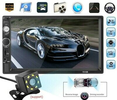 HD 1080p 7in Touch Car Stereo MP5 Player FM Radio Audio RC Mirror Link Bluetooth