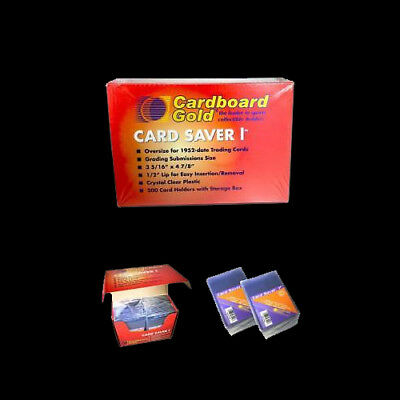 100 Card Saver 1 I  PSA BGA Cardboard Gold Semi Rigid Grading Sleeves Savers