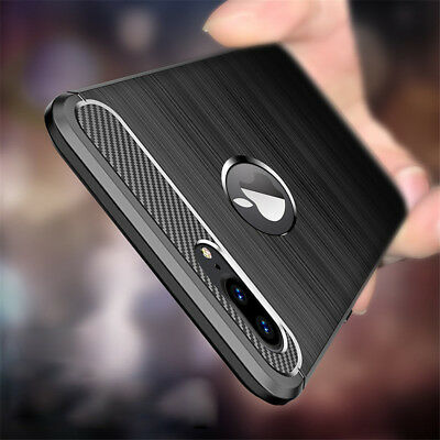 For iPhone XS Max XR 7 8 6S+ Shockproof Soft Carbon Fiber TPU Hybrid Case Cover