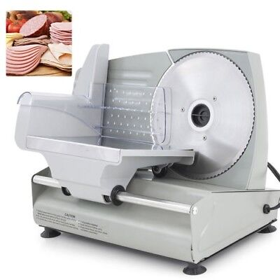 "Meat Slicer Electric 7.5"" Sliding Blade Deli Bulk Meat Food Premium Home Kitchen"