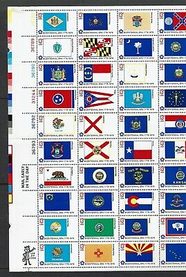 Us...1976 Fifty State Flags Sheet  Muh...
