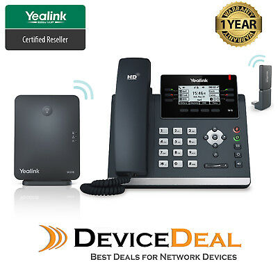 Yealink W41P Wireless DECT Deskphone including W60B, SIP-T41S and DD10K Dongle