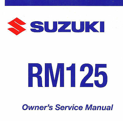 1996 suzuki rm125 motorcycle owner s service manual 29 99 picclick rh picclick com suzuki rm125 service manual download 2002 suzuki rm125 service manual