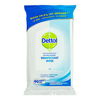 NEW Dettol Antibacterial Surface Wipes Fresh 90 Pack