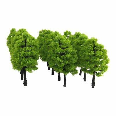 20pcs Model Trees Miniature Landscape Scenery Train Railways Trees Scale 1:100