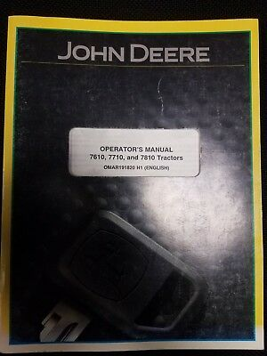 John Deere 7610 7710 7810 Tractor Operators Manual OMAR191820