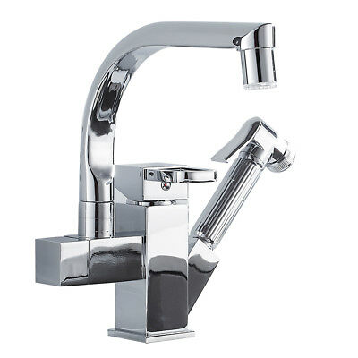 Kitchen Sink Faucet with Pull Out Sprayer LED Light Sprayer Sink Mixer Tap