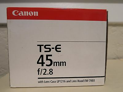 CANON TS-E 45mm f/2.8 - EMPTY LENS BOX ONLY