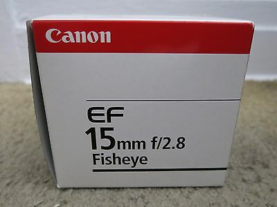 CANON EF 15mm f/2.8 Fisheye - EMPTY LENS BOX ONLY