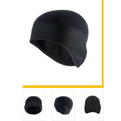 e703ed41f09 Men s Beanie Hats Ear Warmer Winter Thermal Fleece Cycling Running Black  Ski Cap