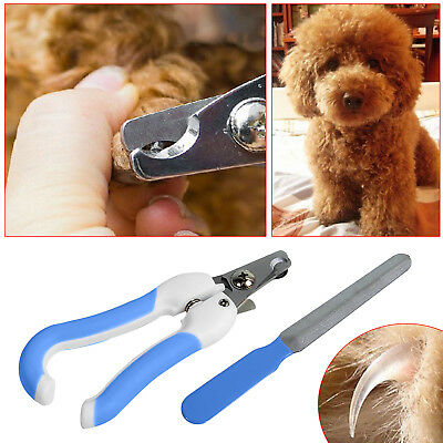 Small Pet Dog Cat Nail Paw Claw Clippers Trimmer Scissors Grooming Cutter Filer