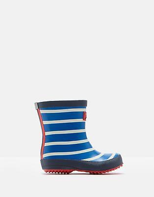 Joules 125055 Printed Wellie Boots in BLUE STRIPE