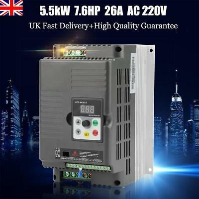 Universal 5.5KW 220V Variable Frequency Drive Inverter VFD 7.6HP 26A PWM Control