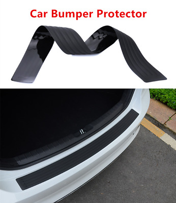 Universal Car Rear Bumper Sill Protective Plate Rubber Cover Guard Trim Pad UK