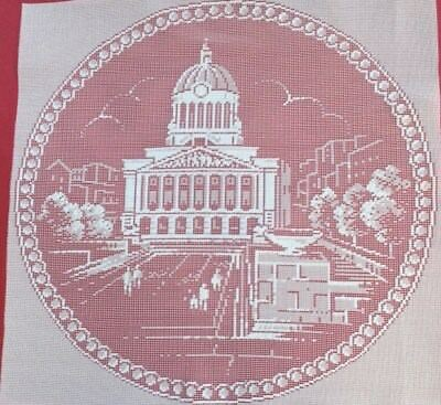 """Old Market Square & The Council House 12""""x12"""" LACE PANEL NOTTINGHAM IN LACE"""