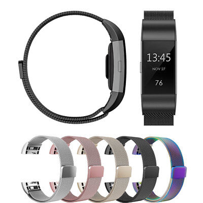 Milanese Band for Fit bit Charge 2 Replacement Strap with Magnetic Closure Clasp