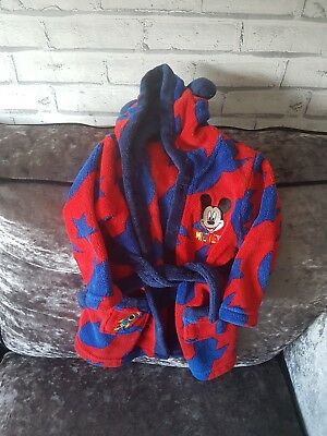 Boys 12-18 Months Dressing Gown Mickey Mouse