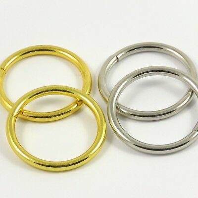35mm 1 3/8 inch Gold/Chrome :: Heavy :: O-Ring for Bag Making Leathercraft