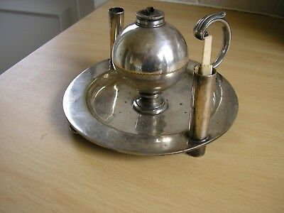 Antique Silver Plated Oil Lamp Chamberstick ?