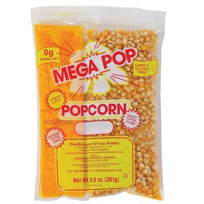 Gold Medal Mega Pop Popcorn Kit 8 oz., 24 ct.-Quality, Great Tasting Popcorn