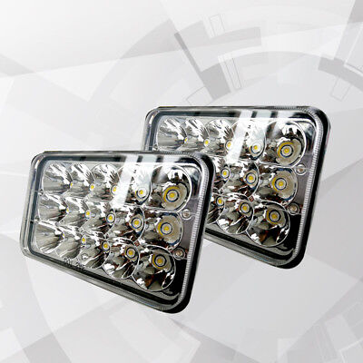 4x6 LED Headlights Sealed Headlamp HID Replacement Pair For Chevy Pick Up 81-87