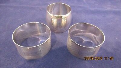 Solid Silver Hallmarked Napkin Rings