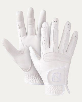SHOW READY LEATHER GLOVE WHITE - by Noble Outfitters