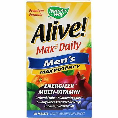 Nature's Way Alive! Max3 Daily Men's Multivitamin 90 Tablets