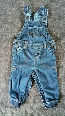 Baby Boy Soft Denim Dungarees 9-12 Months