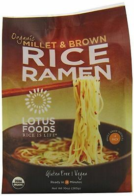 Lotus Foods Organic Rice Ramen Noodles Millet & Brown -- 10 oz