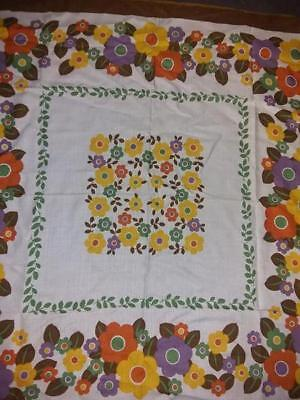 Huge Lot Of  Four Vintage Tablecloths Great Condition 1950's