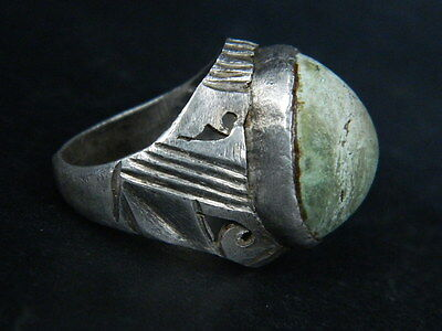 Antique Silver Ring With Stone Post Medieval 1800 AD #STC464
