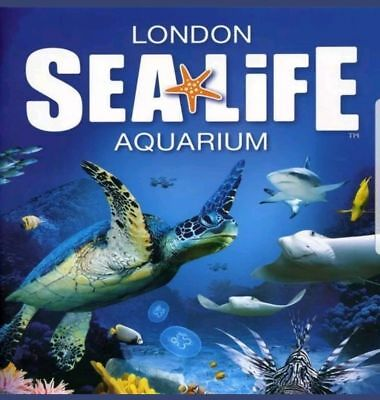 Sea Life London Tickets X 2, Valid For Sunday 27Th Jan 2019