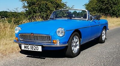 1980 MGB Roadster in Pageant Blue with Chrome Conversion.