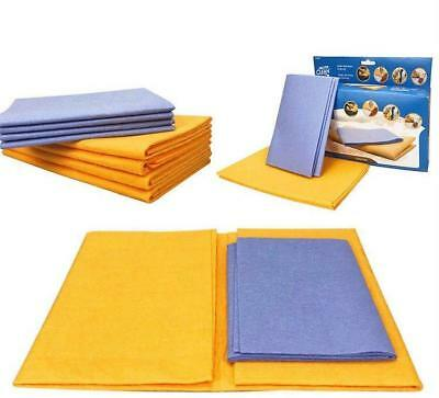 8 Piece Set Super Absorbent Towels Wiping Rags Kitchen Super Sham Clean Wash New