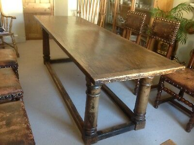 17th 19th Century Oak Refectory Serving Table