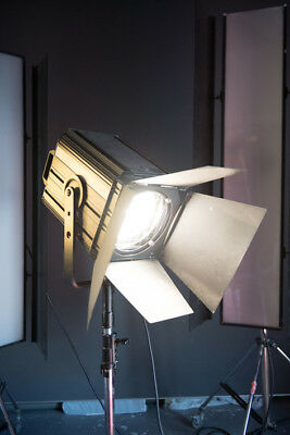 2500watt fresnel spotlight with spare bulb, halogen.