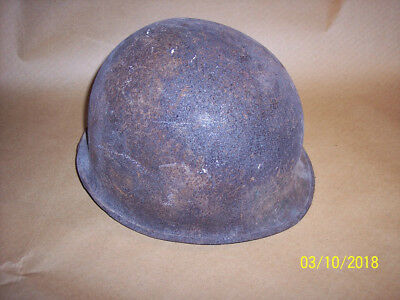 Vintage Antique Military Helmet   SELLING AS IS AS FOUND  *SEE 11 PICS 11 X 9.5
