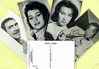 CELEBRITY AUTOGRAPHS - 1950s/1960s TV, Music & Film Star Postcards #308 to #386