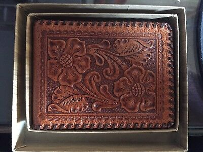 Vintage Hickok Tooled Pigskin Wallet W Original Box