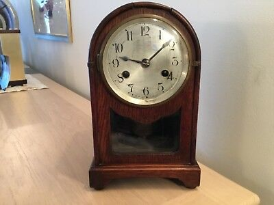 Clock Spares Or Repair. An Early Wood Mantel Clock With Pendulum