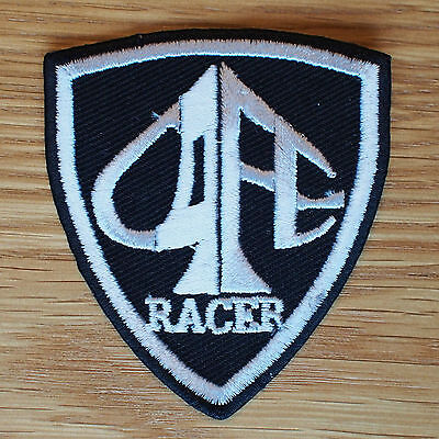 Motorcycle Biker Rocker Greaser Cloth Patch Leathers Cut Off CAFE RACER Shield