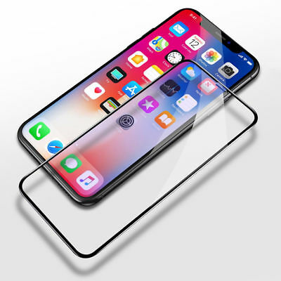 5D Full Coverage Tempered Glass Screen Guard Protector For Apple iPhone XR , 10R