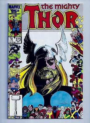 MIGHTY THOR #373 VF+ 8.5 (First Series) 1986 Angel / Hela / Marauders