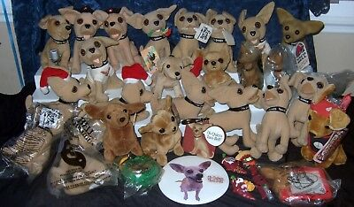 Vintage Taco Bell Dog Bobble Head Magnet Peace TY Button Stuffed Collection LOT