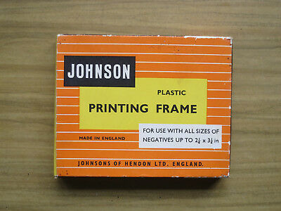 Vintage contact printing frame by Johnsons of Hendon
