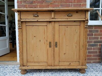 Fabulous! Antique Pine Dresser Base/sideboard/cupboard- Great Condition