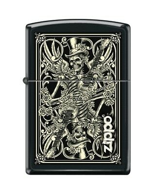 Zippo Lighter Skull Playing Guitars Limited Edition Black Case