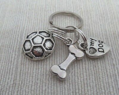 Dog Collar Charms:  Bone, Football and Heart
