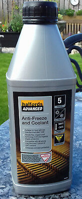 Halfords 1 L Anti-Freeze Summer Coolant, 5 year extended life, -34 to +108 deg C